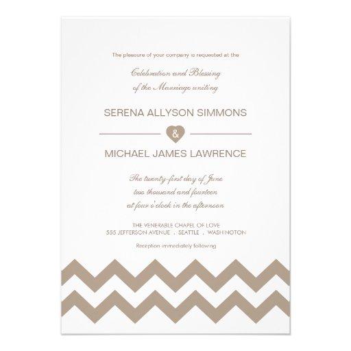 Invitaciones blancas y de color topo del boda de C Anuncio
