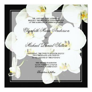 Invitaciones blancos y negros del boda de la invitación 13,3 cm x 13,3cm