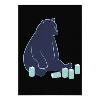 Invitaciones borrachas del oso comunicados personales