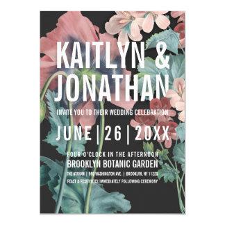 Invitaciones botánicas del boda del abrazo