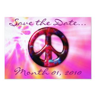Invitaciones brillantes del signo de la paz del comunicados personales