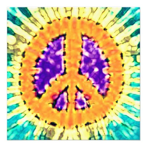 Invitaciones brillantes del signo de la paz del te invitaciones personalizada