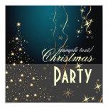 Invitaciones chispeantes del árbol de navidad/del invitación 13,3 cm x 13,3cm