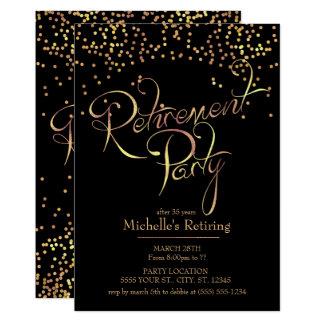 Invitaciones chispeantes del fiesta de retiro del invitación 12,7 x 17,8 cm