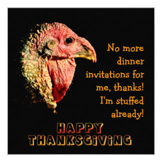 Invitaciones chistosas del fiesta de cena de la ac comunicados personalizados
