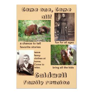 Invitaciones chistosas para la reunión de familia invitación 12,7 x 17,8 cm