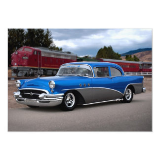 Invitaciones clásicas especiales 1955 del coche de invitación 12,7 x 17,8 cm