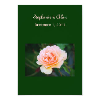 Invitaciones color de rosa perfectas del boda de invitación 12,7 x 17,8 cm