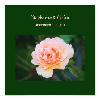 Invitaciones color de rosa perfectas del boda de l invitaciones personalizada