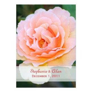 Invitaciones color de rosa perfectas del boda de l invitaciones personales
