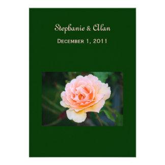 Invitaciones color de rosa perfectas del boda de l anuncios personalizados