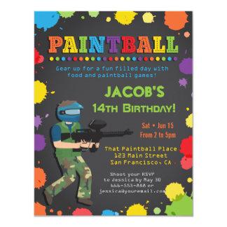Invitaciones coloridas de la fiesta de cumpleaños invitación 10,8 x 13,9 cm