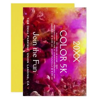 Invitaciones coloridas del acontecimiento de los