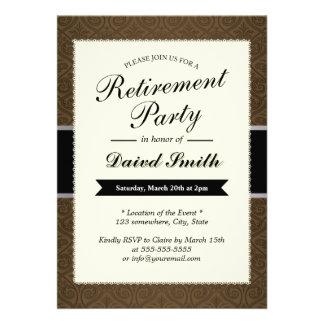 Crea tus propias invitaciones de jubilación y personalízalas con tus colores, diseños y estilos favoritos.