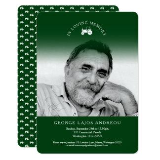Invitaciones conmemorativas del entierro del verde invitación 12,7 x 17,8 cm