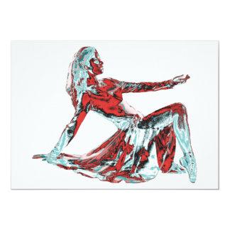 Invitaciones contemporáneas del arte del baile invitación 12,7 x 17,8 cm