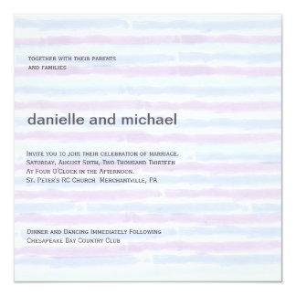 Invitaciones contemporáneas minimalistas del boda invitación 13,3 cm x 13,3cm