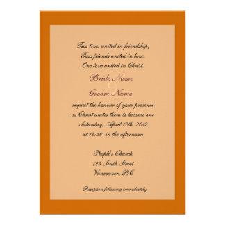 Invitaciones cristianas del boda de la caída de la comunicados personales