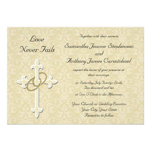 Invitaciones cristianas del boda de los anillos de comunicado de ...