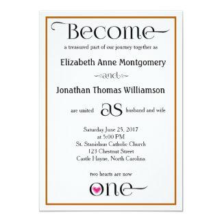 Invitaciones cristianas simples de Brown y del Invitación 12,7 X 17,8 Cm