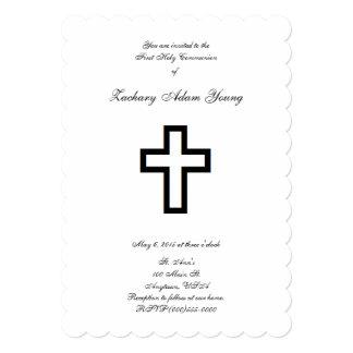 """Invitaciones """"cruzadas"""" abiertas invitación 12,7 x 17,8 cm"""