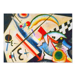 Invitaciones cruzadas blancas de Kandinsky Invitación 12,7 X 17,8 Cm