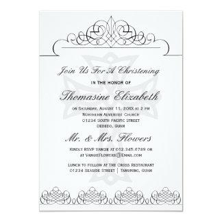 Invitaciones cruzadas del bautizo comunicado personal