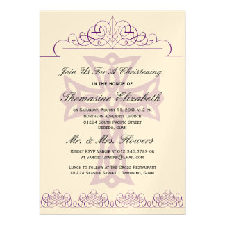 Invitaciones cruzadas del bautizo invitaciones personalizada
