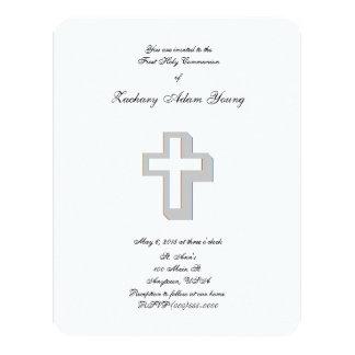 """Invitaciones """"cruzadas"""" dimensionales invitación 10,8 x 13,9 cm"""