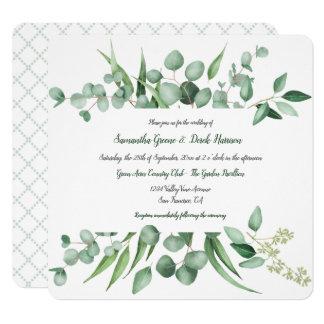 Invitaciones cuadradas de Botanicals de la envidia