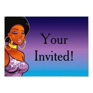 Invitaciones de Afrocentric Invitación 12,7 X 17,8 Cm