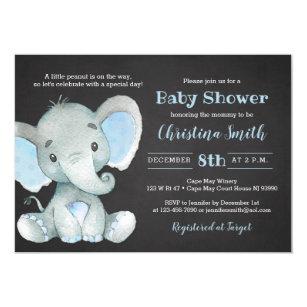 Invitaciones De Baby Shower Del Elefante Para Un