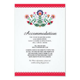 Invitaciones de boda rojas mexicanas del