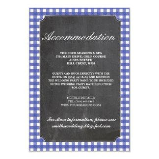 Invitaciones de boda rústicas del alojamiento del