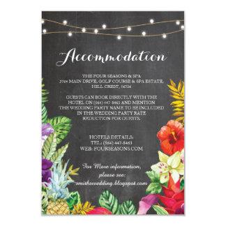 Invitaciones de boda tropicales del alojamiento de