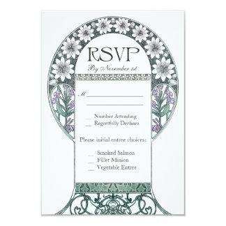 Invitaciones de boda violetas esmeralda de RSVP Invitación 8,9 X 12,7 Cm