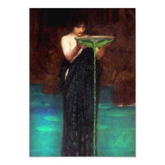Invitaciones de Circe Invidiosa del Waterhouse Invitación 12,7 X 17,8 Cm