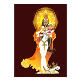 Invitaciones de Cobre del del de La Virgen de la C Anuncio Personalizado