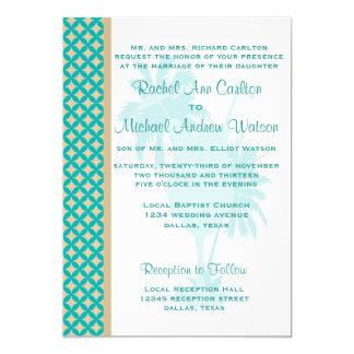 Invitaciones de color caqui del boda del trullo y invitación 12,7 x 17,8 cm