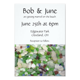 Invitaciones de cristal del boda de la playa