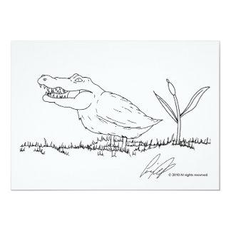 Invitaciones de Crocoduck Invitación 12,7 X 17,8 Cm