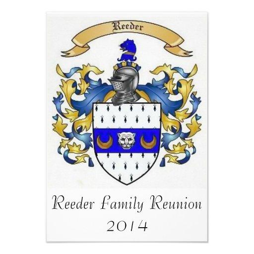 Invitaciones de encargo de la reunión de familia d comunicado