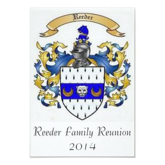 Invitaciones de encargo de la reunión de familia invitación 8,9 x 12,7 cm