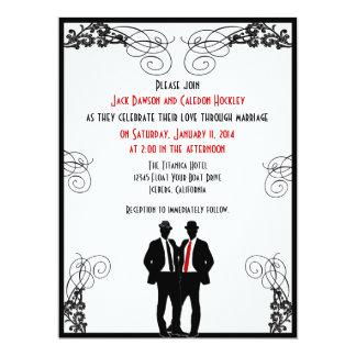 Invitaciones de encargo del boda de los novios invitación 16,5 x 22,2 cm