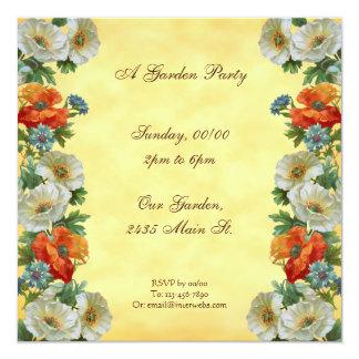 Invitaciones de encargo del cuadrado de la fiesta