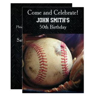 Invitaciones de encargo del cumpleaños del béisbol invitación 12,7 x 17,8 cm