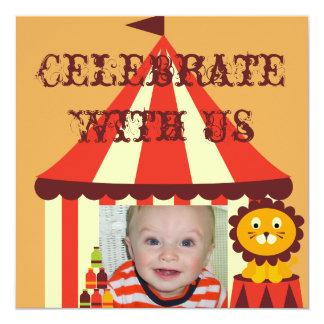 Invitaciones de encargo del cumpleaños del circo invitación personalizada