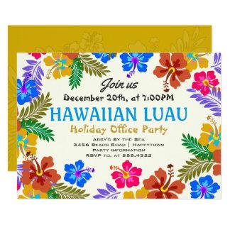 Invitaciones de encargo hawaianas del hibisco del invitación 12,7 x 17,8 cm
