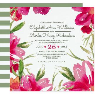 Invitaciones de encargo románticas del boda del