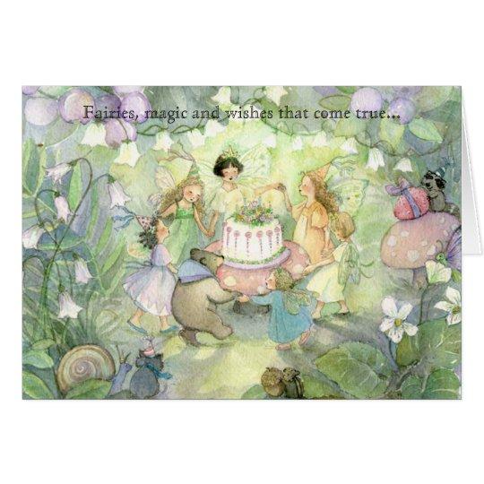 Invitaciones de hadas de la fiesta del té tarjeta de felicitación